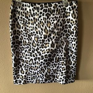 WHBM Leopard Print Pencil Skirt